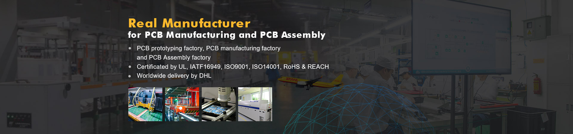Real Manufacturer for PCB manufacturing and PCB Assembly