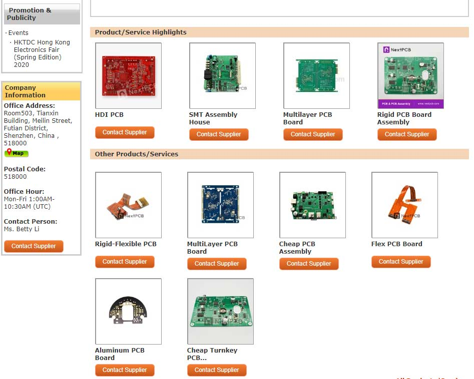 NextPCB online exhibition pages 2